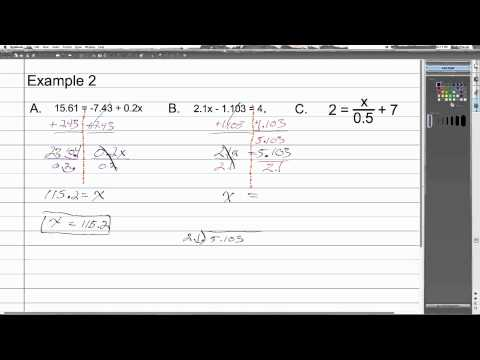 Solving Two Step Equations with Decimals | Algebra 1 How To
