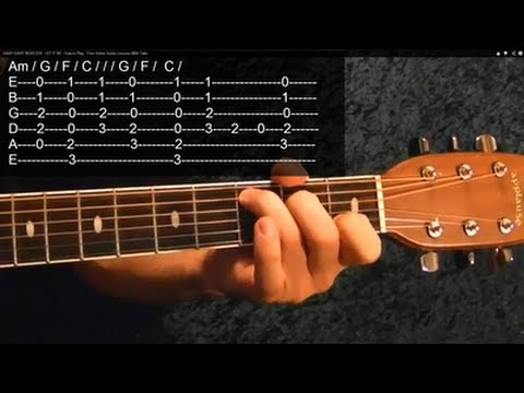 EASY!! YESTERDAY ( Guitar Lesson ) by THE BEATLES, With Tabs