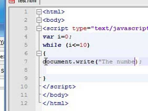 Javascript Tutorial - 14 - While Loop