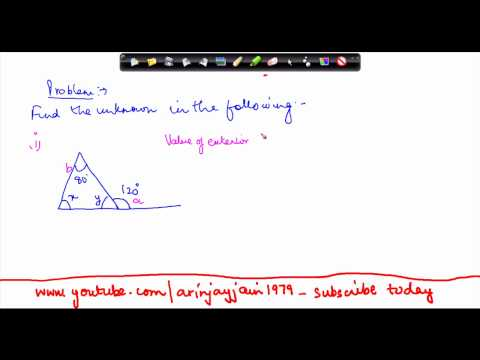 130-CBSE Class VIII, ICSE Class VIII - Mathematics Properties of Triangles - Problem 1