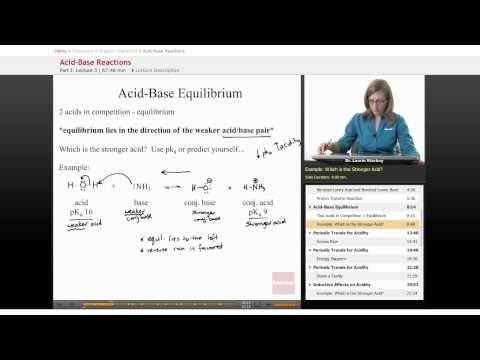 Organic Chemistry: Acid Base Equilibrium