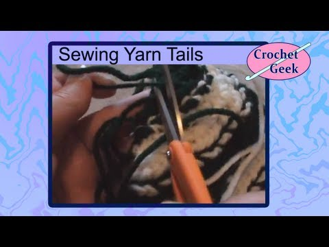 Art of Crochet by Teresa - How to Hide Crochet Yarn Tails