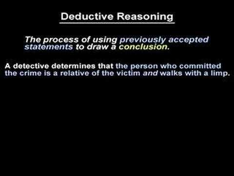 Deductive Reasoning - YourTeacher.com - Geometry Help