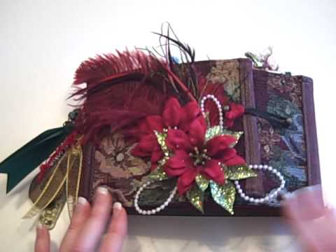 Christmas Gate Fold Paper Bag Mini Album