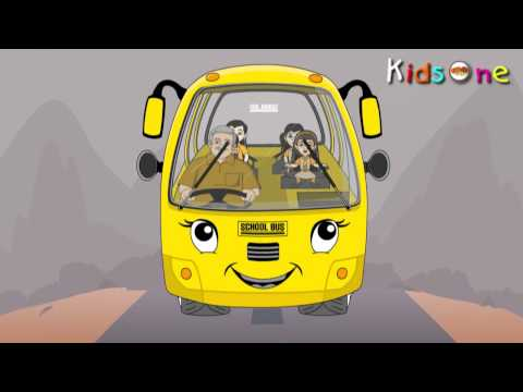 Wheels On The Bus - Nursery Rhymes - English Animated Rhymes