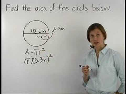 Area of a Circle - YourTeacher.com - Math Help