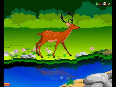 Deer and Lion - Telugu Animated Stories