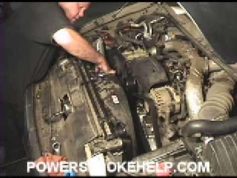 7.3 WATER PUMP INSTALL 6 OF 8 FORD POWERSTROKE DIESEL