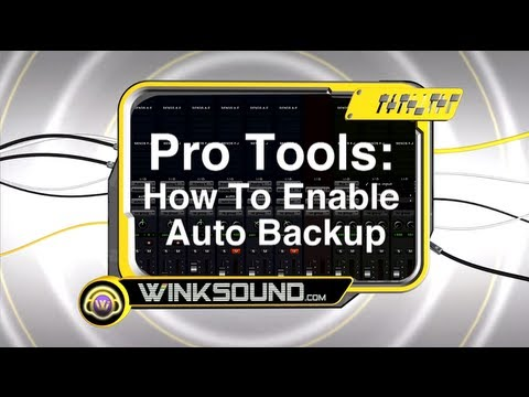 Pro Tools: How To Enable Auto Backup | WinkSound