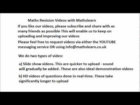Free Online Maths Tutor - Request Free Videos and Maths Help