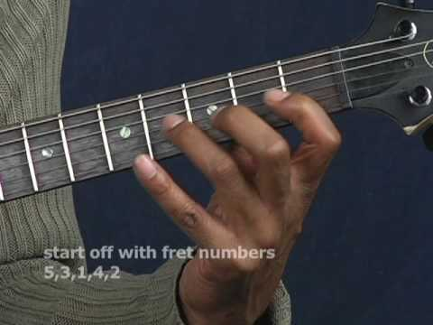 Guitar exercise lesson improve picking finger dexterity strength finger stretch electric or acoustic