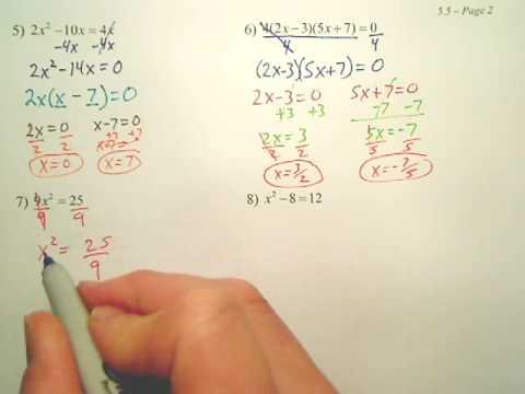 Algebra 2   5.5b