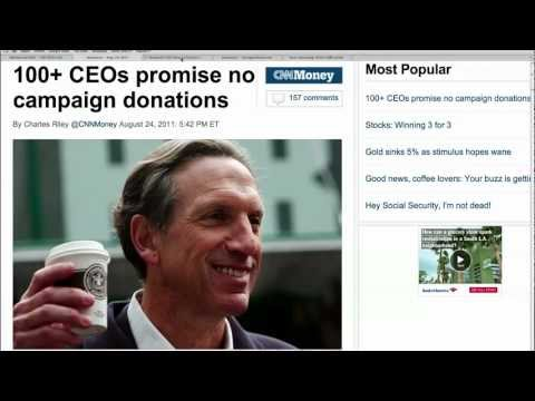100 CEO's Halt Campaign Donations