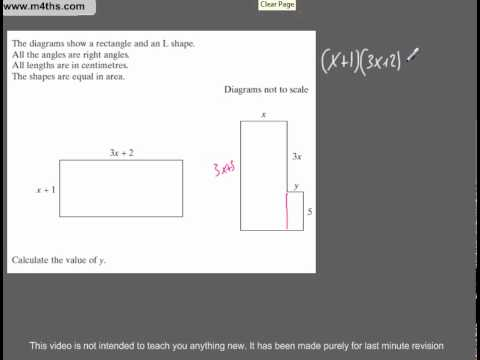(Q80) A Star GCSE Revision Questions Areas using algebra
