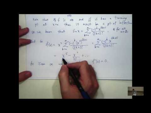 Maclaurin series + critical point example