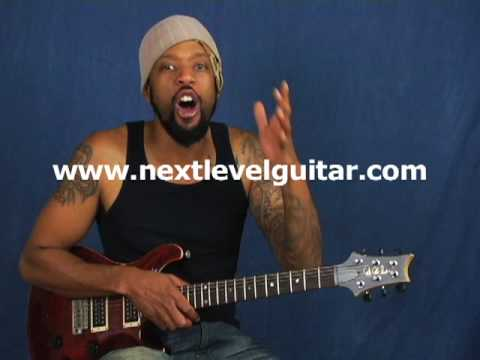 Learn blues rock licks lead guitar lesson using Dorian mode and Minor Pentatonic Blues Scale notes