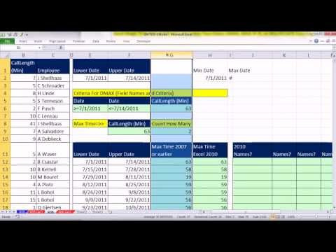 Excel Magic Trick 936: Extract Employee Names For Max Value on Given Date Period (Including Dups)