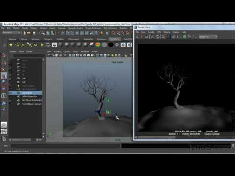 Maya tutorial: Rendering CG light with mental ray | lynda.com