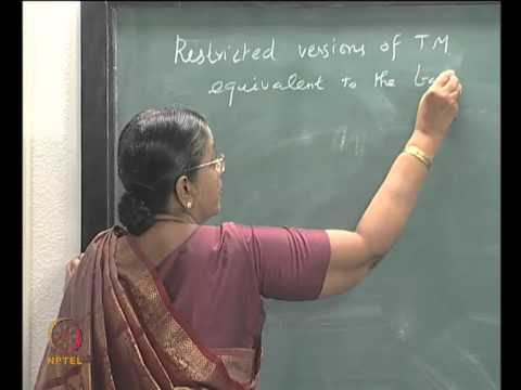 Mod-05 Lec-30 TURING MACHINE AS A GENERATING DEVICE