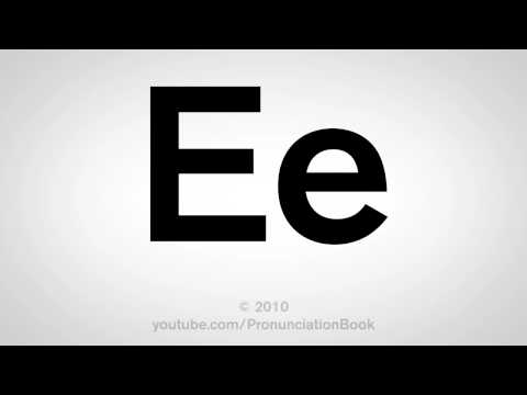 Basic English: How to Pronounce the Letter E