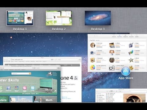 Mac OS X Lion: Mission Control and Desktop Spaces