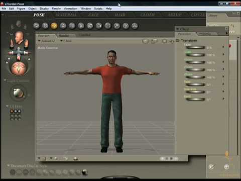 Poser 7 Tutorial VIdeo - Introduction to Poser