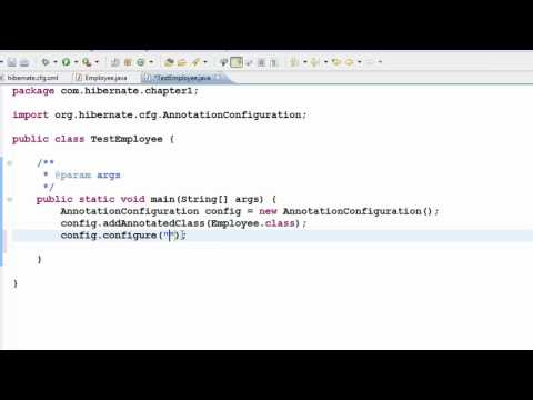 Java Hibernate Tutorial Part 5 - Create table from Class