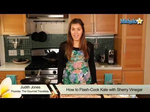 How to Flash-Cook Kale With Sherry Vinegar
