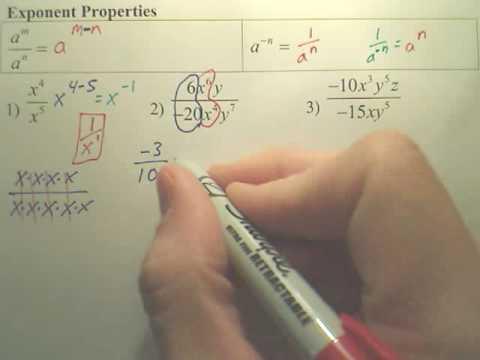Exponent Properties 2 - Algebra 2
