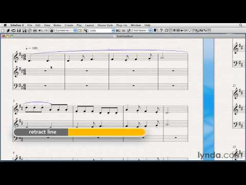 Sibelius tutorial: How to enter slurs or phrase marks | lynda.com