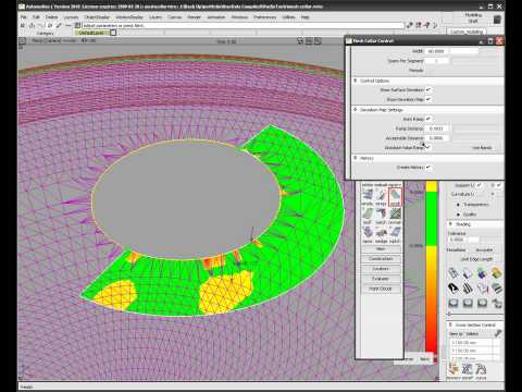 Autodesk Alias Surface 2010 Mesh Collar Workflow