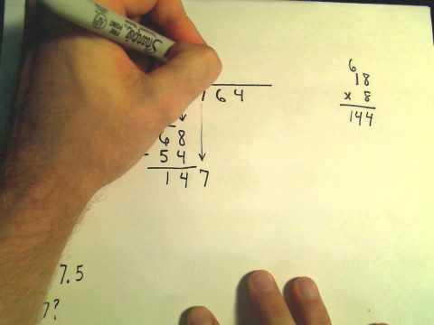 Arithmetic Basics - Long Division of Numbers, Dividing by a Two Digit Number