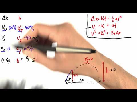Solving for Final Velocity 2 - Intro to Physics - Motion - Udacity