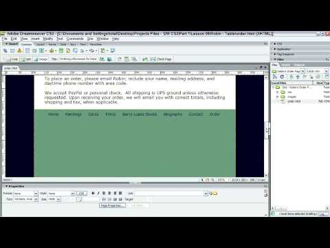 Adobe Dreamweaver CS3: DESIGNING ACCESSIBLE TABLES: Understanding Tables & Accessibility