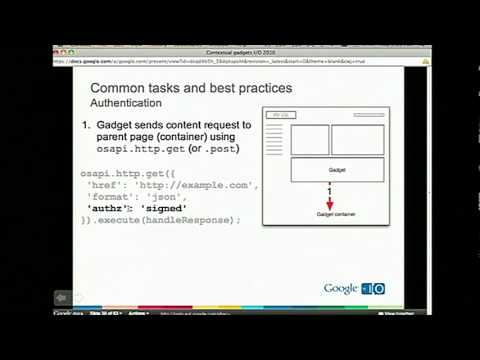 Google I/O 2010 - Deep dive on Gmail contextual gadgets