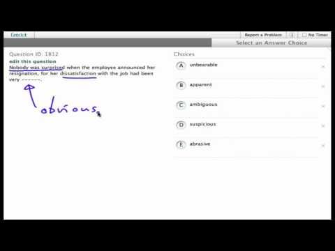 Grockit SAT Reading - Sentence Completion: Question 1812