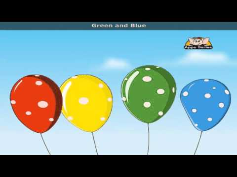Pretty Balloons with Lyrics - Nursery Rhyme