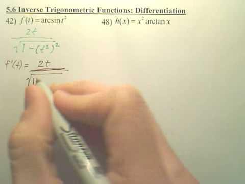 5.6 Inverse Trigonometric Differentiation - Calculus