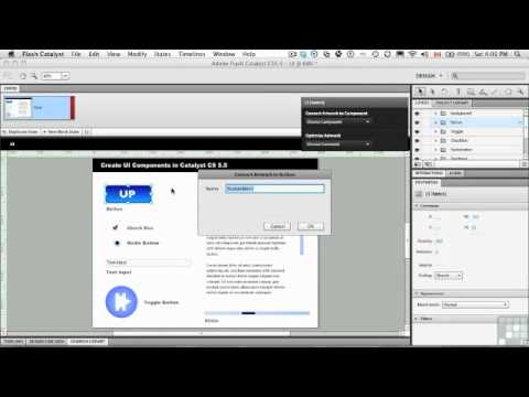 Flash Catalyst CS5.5 - Creating Component Buttons