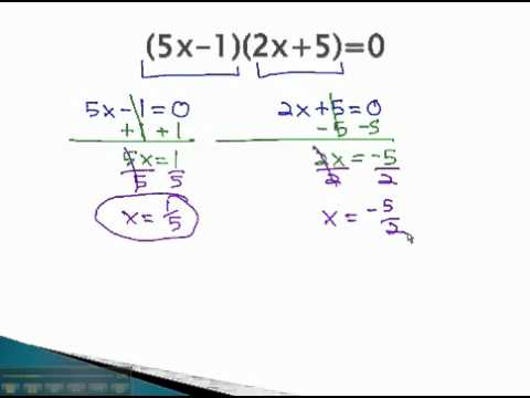 Solve by Factoring - Zero Product Rule - YouTube.mp4