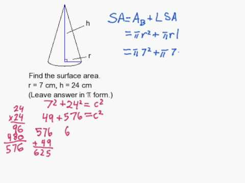How to Find the Surface Area of a Cone When Not Given the Slant