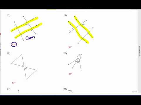 How to Study Angle Relationships: Problem Set 1
