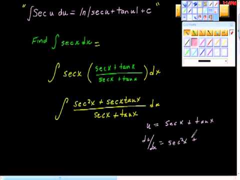 Derivation of the Secant Formula AP Calculus