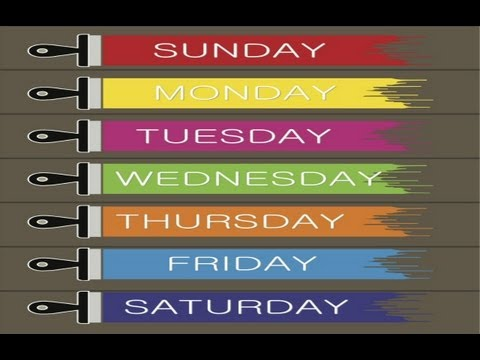 Days Of The Week Song - Songs For Children