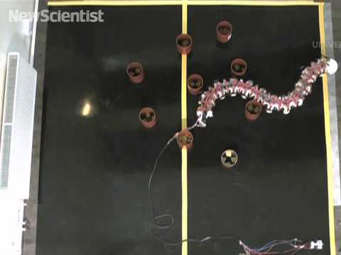 Worm-bot wriggles around obstacles