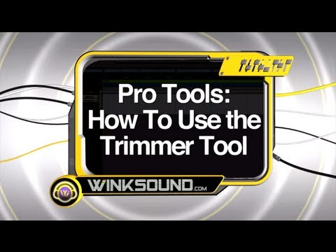 Pro Tools: How To Use the Trimmer Tool