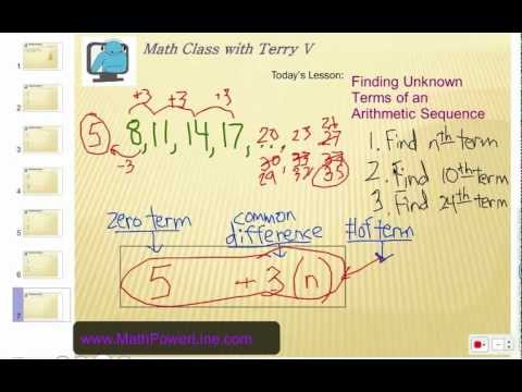 How to Find Unknown Terms of an Arithmetic Sequence 1
