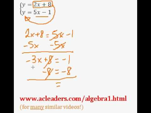 Systems of Equations - Solving by Substitution. EASY!!! (pt. 2)