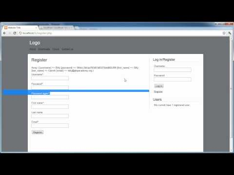 PHP Tutorials: Register & Login (Part 11): Register Users (Part 1)