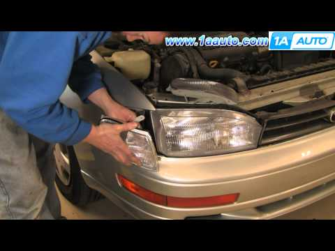 How To Install Replace Upper Marker Light Toyota Camry 92-94 1AAuto.com